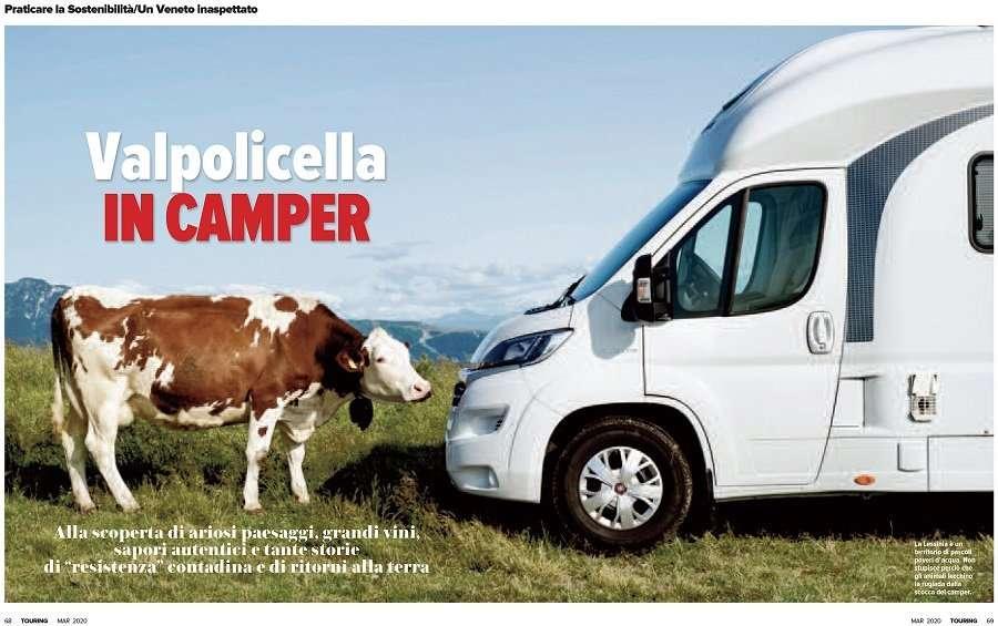 """""""Valpolicella in Camper"""" Touring Mar 2020 Autore Antonio Armano - Rassegna stampa - camper"""