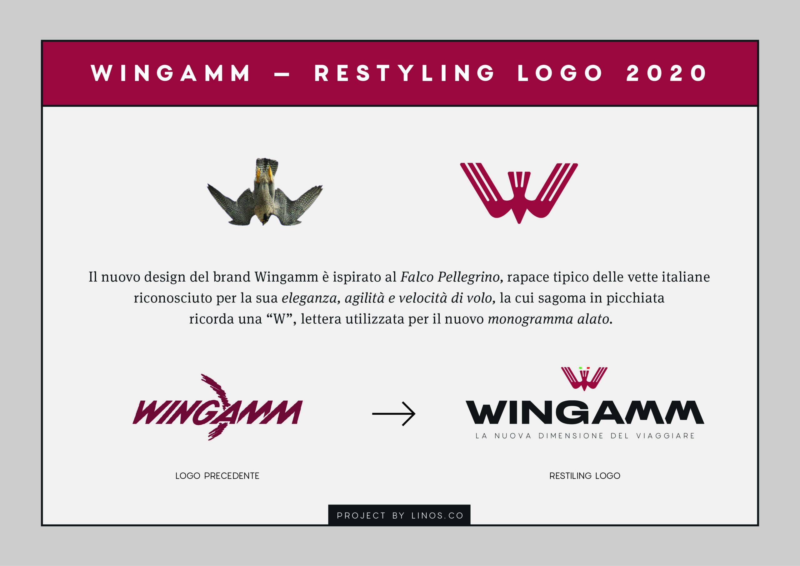 The historical symbols: Ala and W merge into a hawk, the new Wingamm - News - camper logo is born