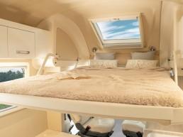 Drop-down bed - camper